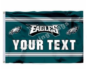 Philadelphia Eagles Custom Your Text Flag 3X5 FT NFL Banner Polyester FAST SHIPP