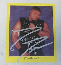 D'Lo Brown Signed 1998 WWF Pro Wrestling Trivia Game Trading Card WWE Autograph