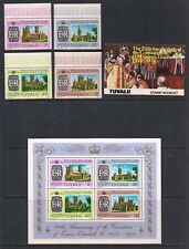 TUVALU STAMP SET SCOTT #81 - #84 + S/S #84a + BOOKLET + SS #45a 1978 QE2 25TH