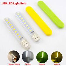Pocket USB LED Night Light Mini 8LEDs 5V Bulb Lamp Gadget Reading Book Notebook