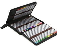 BTSKY Portable Canvas Zippered Colored Pencil Case-Super Large Capacity 72 Slot