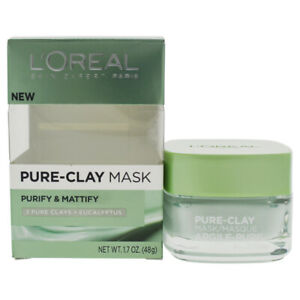 Purify and Mattify Pure-Clay Mask by Loreal Paris for Women - 1.7 oz Mask