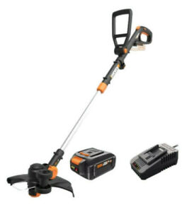 WORX WG170.3 20V 4.0 Cordless Grass Trimmer/Edger 60 Min Quick Charger