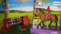 NEW Schleich Pony Horse Club Western Rider Stable Set Tack ALL item inc 42112