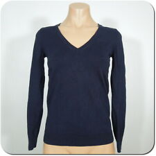 J.CREW Women's V-Neck Sweater Top, Dark Navy Lightweight Cotton size XXS