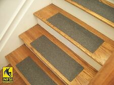 """NFSI High Traction - Vinyl Stair Tread Sets - Charcoal (404) -  24"""" x 8"""""""