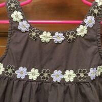 Gymboree Toddler Girl Size 4T Lot of 2 Brown Tank Top Shirts Embellishments