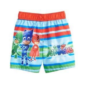 PJ MASKS GECKO CATBOY UPF-50+ Bathing Suit Swim Trunks Toddlers Size 2T Box D