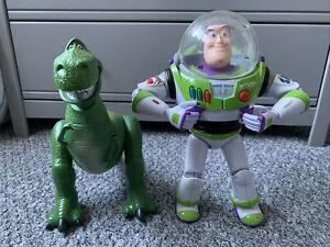 Disney Pixar Toy Story Talking Buzz Lightyear And Rex Figure