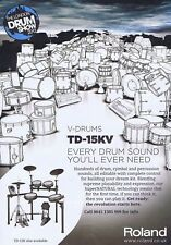 ROLAND TD-15KV DRUMS ADVERT original press clipping	21x28cm