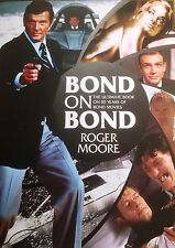 ROGER MOORE SIGNED BOND on BOND LIMITED EDITION H/B 007 BOOK - UACC RD AUTOGRAPH