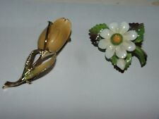 Two VINTAGE ESTATE SIGNED Pin / Broach, BSK & CARA STAFFORDSHIRE; Fast S&H