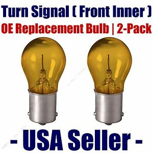 Front Inner Turn Signal Light Bulb 2pk Fits Listed Land Rover Vehicles - 7507NA