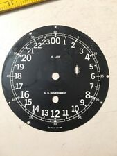 M Low US Government Ships Clock Dial For Chelsea Mvt?  24 Hour Zulu Military