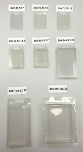 8 SIZES IN PACK 10X 25X 50X 100X PREMIUM QUALITY BLISTER PACKAGING CLAMSHELL BOX
