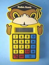 Radio Shack Child's Calculator EC-351 Yellow Plastic Monkey Large Buttons