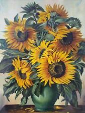 Oil Painting Floral Still Life Flowers Sunflower Sunflowers Art 1965 Art L Wolff