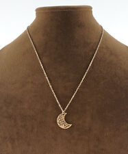 I Love You To The Moon & Back Crescent Half Moon Necklace Gold or Silver