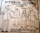 RARE VTG 1920s CHILD'S COAT BUTTERICK Sewing Pattern 5