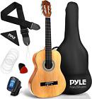"Pyle 36"" Classical Acoustic Guitar-3/4 Junior Size 6 Linden Wood Guitar w/Gig Ba for sale"