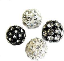 Rhinestone Beads Big Hole fit European Charm Large Pendant Crystal 4 pcs 26mm