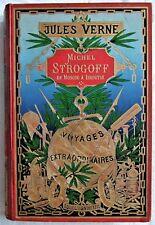 J. VERNE - Michel Strogoff ... (1890 - Sphère dorée - 7 H.T. couleurs)