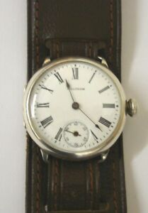 Waltham Silver Manual Wind 'Trench' Watch - £595