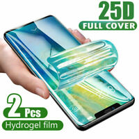 2X Hydrogel Film Screen Protector For Samsung Galaxy S20 Note20 Ultra 5G A51 A71