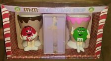 M&M ICE CREAM SHOP RED & GREEN BOWL CUPS SET LIMITED EDITION COLLECTIBLE RARE
