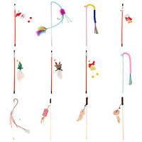 Cat Tease Stick with Bell Rod Teaser Wand Feather Interactive Pole Funny Toys