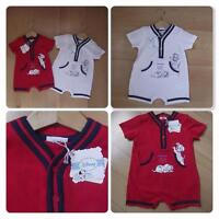 DISNEY Baby Boys Clothes 3-6-9 Months 101 DALMATIONS Red or White Summer Romper