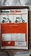 DECKSON MINI BIKES BROCHURE 1970,s REPRINTED    MAN CAVE.