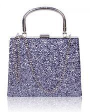 Women's Small Cute Little Clutch Evening Top Handle Handbags Purse For Wedding B