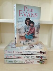 Collection of 4 x Paperback Saga Romance Books - Pam Evans - On her Own - NEW
