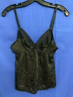 VTG MAIDENFORM Silky SWEET TALK Nylon FLORAL EMBROIDERED Cami/Camisoles Black 34