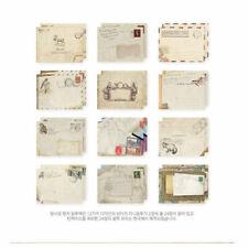 12pc Mini Envelopes Colored Gift Card Small Metallic Envelope Designs Paper R6W8