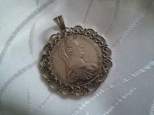 ▀ Münzanhänger Maria Theresia ▀ Münze mit Fassung ▀ Theresientaler Silber 833 ▀