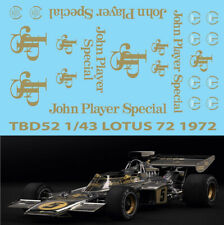 1/43 Lotus 72 John Player Special Decals 72D TB Decal TBD52
