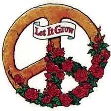 Let It Grow Peace Sign - Window Art Sticker / Decal