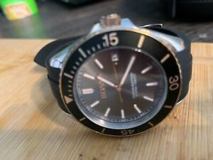mens watches used Hugo Boss with black face. Black rubber strap.
