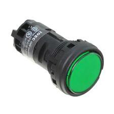Lot of 10 HW1P-1FQD-G-120V IDEC 22mm green round pilot light flush 120 VAC