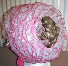 Adult Bonnet's Satin and Organza Bonnet in many different colors