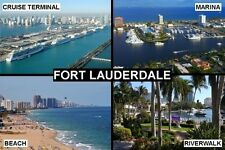 SOUVENIR FRIDGE MAGNET of FORT LAUDERDALE MIAMI USA