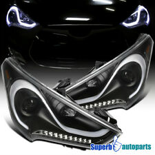 For 2012-2017 Hyundai Veloster LED Sequential Signal Projector Headlights Black
