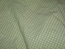 1 Pottery barn Kids Green Gingham Checker Crib/Toddler Fitted bed Sheet {Fabric}