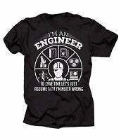 Engineer T-shirt Funny Engineering Tee Shirt Gift For Engineer  Never Wrong Tee