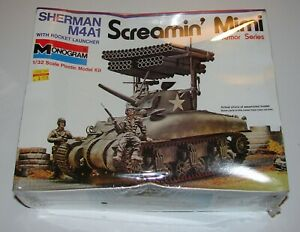 Sherman M4A1 Tank Rocket Launcher 1:32 Model Kit Sealed Monogram 1975