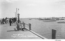 1941 Cape Porpoise Maine Wharf Lobster Boat Mobil Gas Pump Original Negative