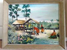 Carl Hantman oil painting Seminole Indians