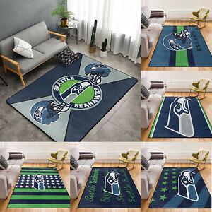 Seattle Seahawks Non-Slip Area Rugs Living Room Bedroom Soft Floor Mat Carpets